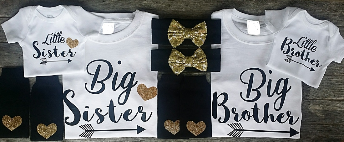 f0ec2b8b0 Big Middle Little Sister and Brother Sibling Shirts and Sets