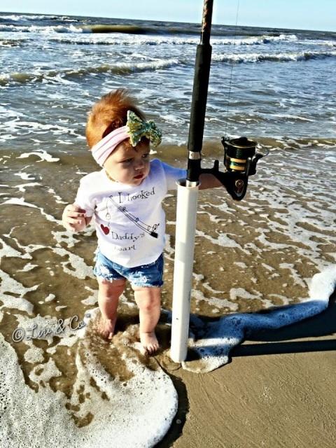 I Hooked Daddy S Heart Baby Fishing Bodysuit Children S