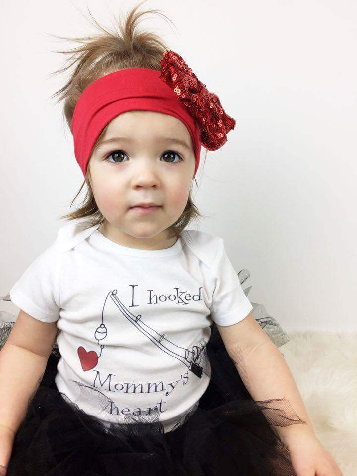 I Hooked Mommy S Heart Baby Bodysuit And Toddler T Shirt