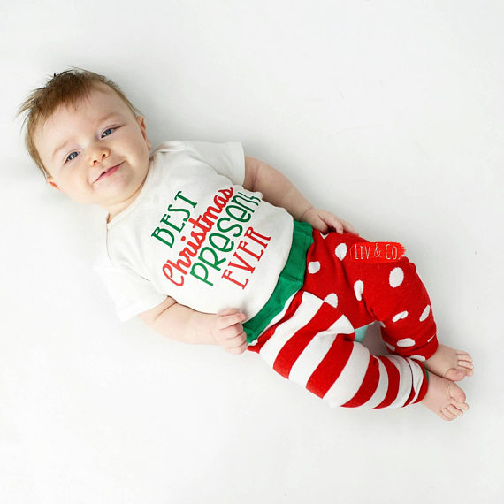 Best Christmas Present Ever Newborn Infant Baby Boy or Girl Christmas Outfit  - Toddler Shirt - Best Christmas Present Ever Newborn Infant Baby Boy Or Girl