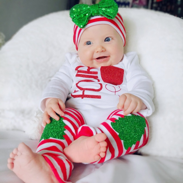 7e68d30a17 Red and White Striped Glitter Christmas Tree Baby and Toddler Leg Warmers  Liv & Co.™