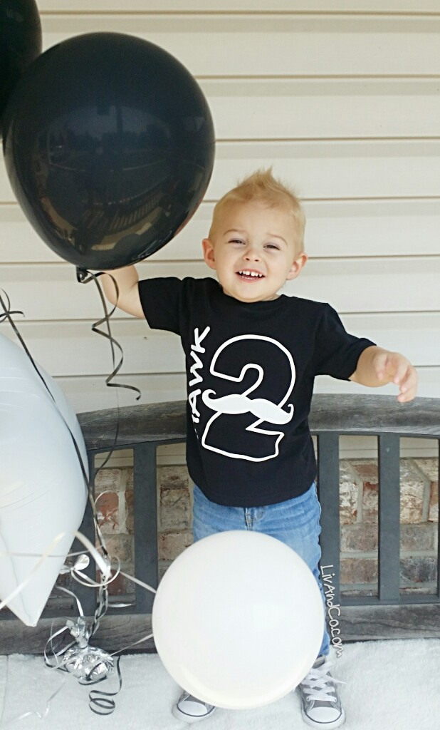 Little Man Mustache Boy 2nd Birthday Shirt Two Year Old Party Outfit Liv CoTM