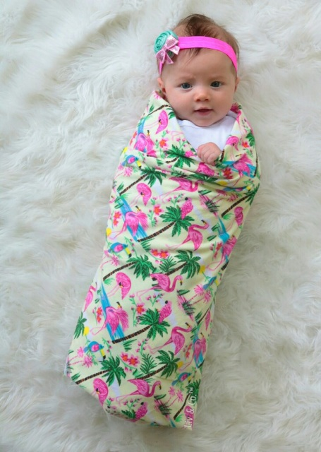Beach Theme Baby Gift Swaddle Blanket Receiving Blanket