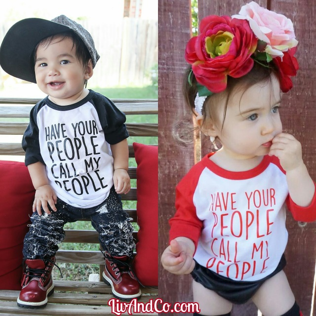 Infant Raglan Shirt Trendy Baby Clothes Toddler Raglan Tee