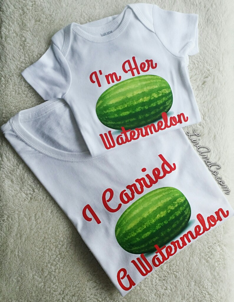 0c8382df53226 I Carried A Watermelon Funny Dirty Dancing Inspired Maternity Shirt and  Mommy and Me Matching Set