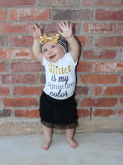 Glitter Is My Signature Color 174 Baby Girl Outfit Toddler