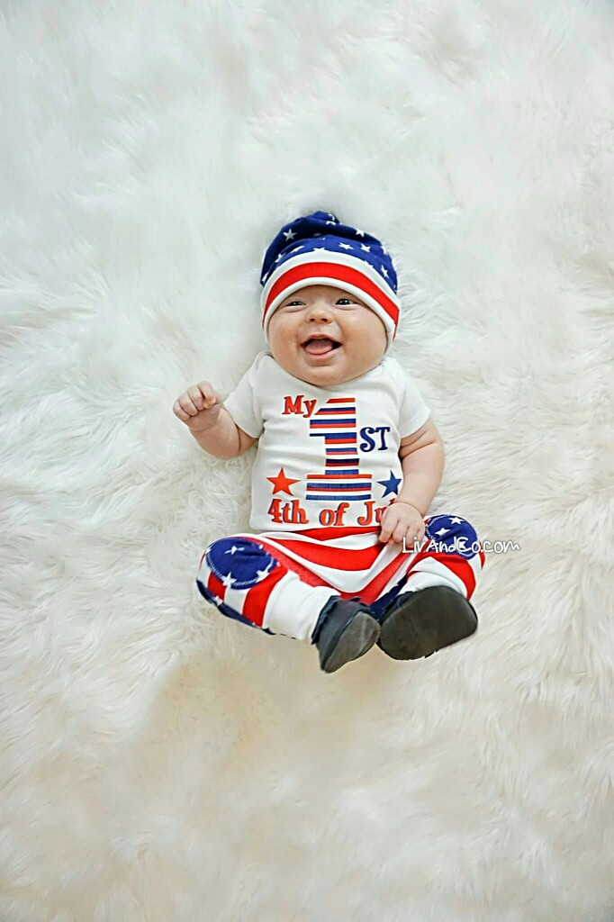 4bcb29b6a Patriotic Baby Clothes, First 4th of July, Baby Boy or Girl Fourth of July  Outfit, Red White and Blue, Stars and Stripes, USA, America, Liv & Co.™