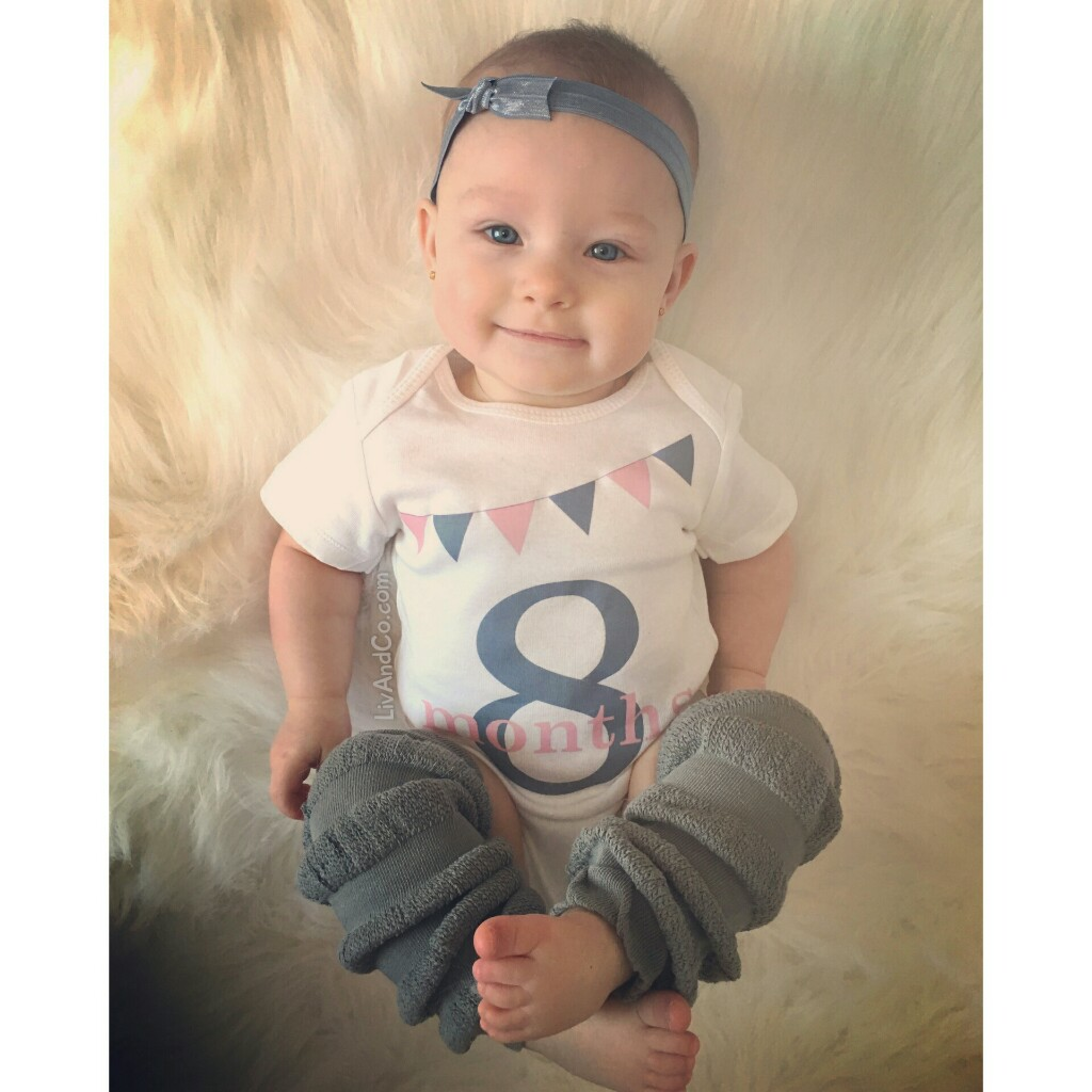 8 month baby girl milestone outfit liv co
