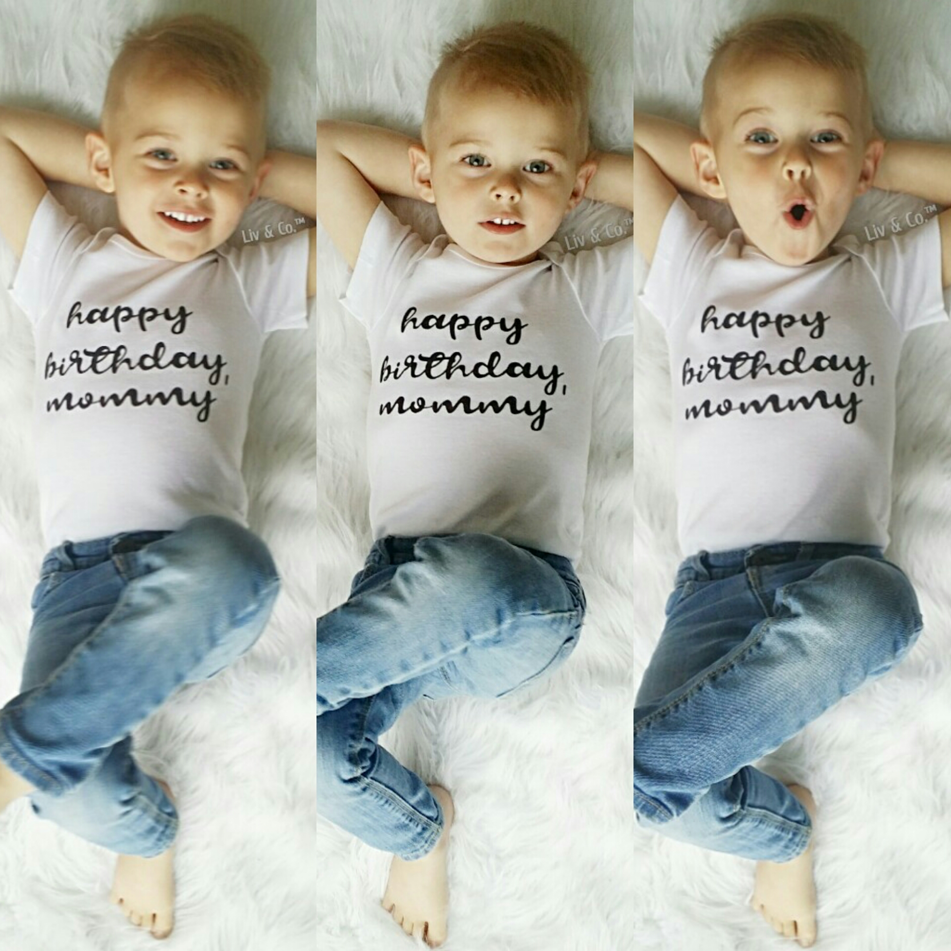 Happy Birthday Mommy Baby Clothes And Toddler Tee Shirt