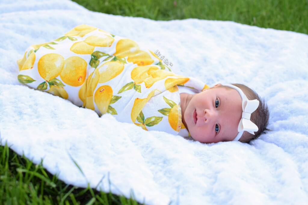 Lemon Baby Swaddle Blanket Baby Shower Gift Baby Blanket