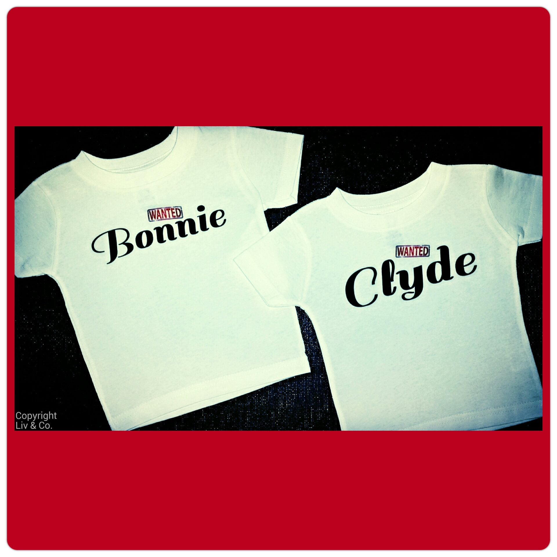 Bonnie & Clyde Shirts Funny Twin Baby Clothes Bodysuits Matching