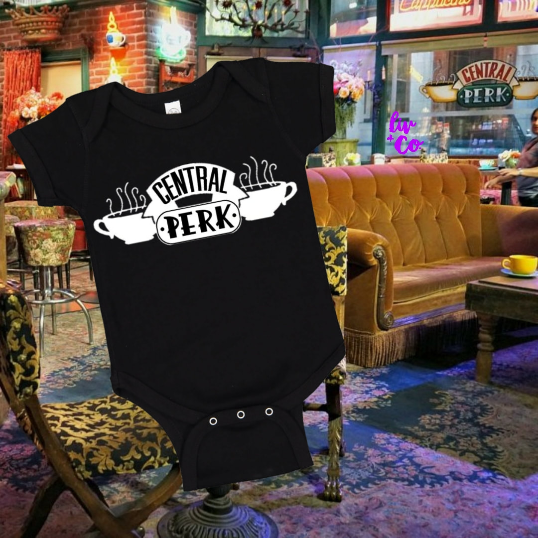 friends tv show central perk halloween costume baby toddler and adult central perk waiter waitress by liv co