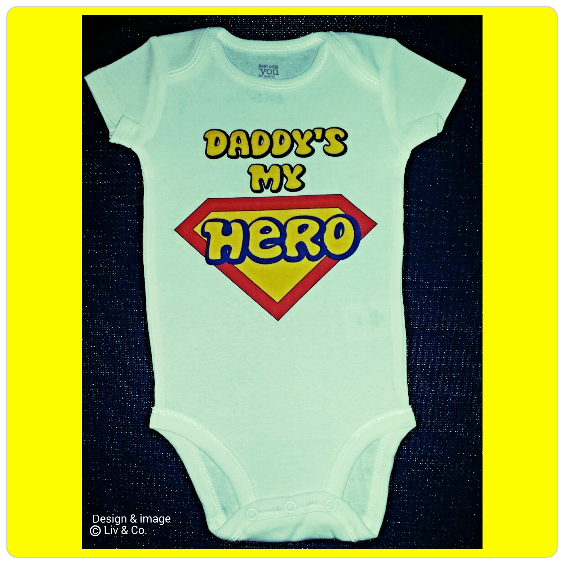 Superhero Dad Funny Baby Clothes Fathers Day Gift Baby Girl